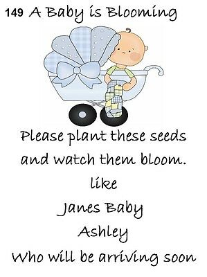 Baby Shower Seed Packets Favors 149a Set of 30