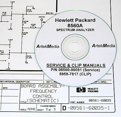 HP 8560A Service Manual & CLIP (Schematics) 2 Volumes