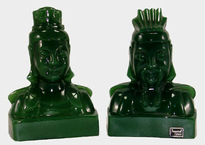 Imperial Lenox  Lu-Tang and Empress Bookends  Jade
