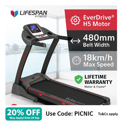 Lifespan Fitness #New Wide 480mm Belt Electric Treadmill Quiet EverDrive® Motor