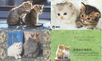 Japon - Japan - Gatos - Cats - Tarjetas Telef.- 1047