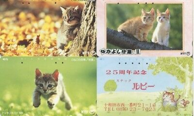 Japon - Japan - Gatos - Cats - Tarjetas Telef.- 1061