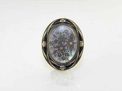 Vintage Victorian Mourning Pin With Mother Of Pearl