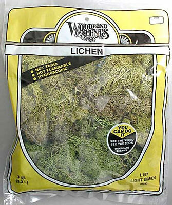 NEW Woodland Scenics Lichen Light Green Mix 3 Quarts L167