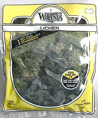 NEW Woodland Scenics Lichen Dark Green Mix 3 Quarts L168