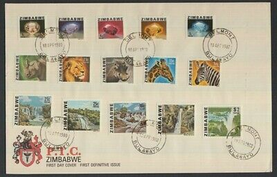 Zimbabwe 1980 Definitives Complete Set On Fd Cover
