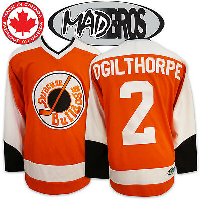 SlapShot Movie Bulldogs Jersey #2 OGILTHORPE *Officially Licensed*Made in Canada