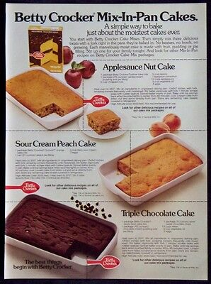 1977 Betty Crocker Mix-In-Pan Cakes Magazine Ad