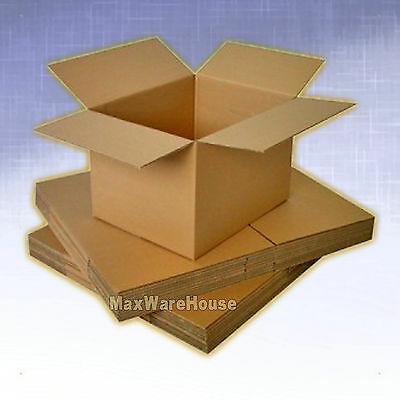25 4x4x4 Corrugated Shipping Packing Moving Boxes