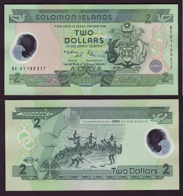 Solomon  Islands P-23 (20)01  $2 Polymer Plastic  CU