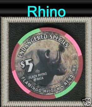 Reno Flamingo Hilton California Rhino Casino Chip #4