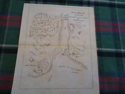 1756 Fort + Lake Ontario Pepperell New York 8 X 10 Map