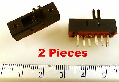 SS11 Miniature Slide Switch SP3T 3 position.PCB 24x8x8mm 10 pieces OM550