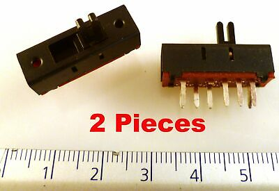 Sanyee Miniature Slide Switch DP2T 3 position PCB 24x8.4x7.8mm 5 Pieces OM0550