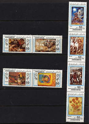 Libya 1983 Paintings Stamps - Complete Set Of 8 - $6.00 Value!