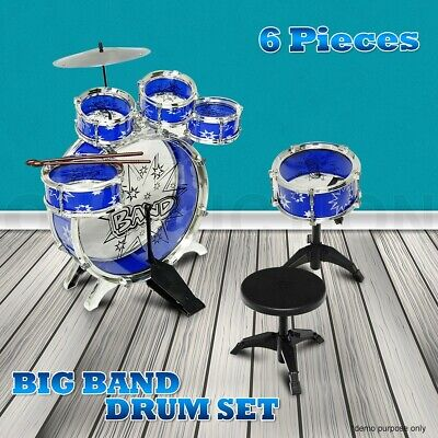 Kids Junior Drum Kit Music Set Children Mini Big Band Jazz Musical Play Toy