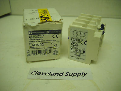 Telemecanique Ladn22 Auxiliary Contact Block 2-No/2-Nc New Condition In Box