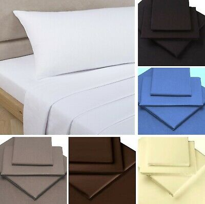 PERCALE BEDDING Fitted Sheet & Extra Deep Fitted Sheets