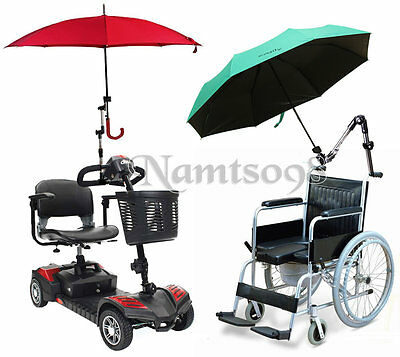 Umbrella supporter Connector Holder/Wheelchair scooter Pipe Bar Attachment Clamp