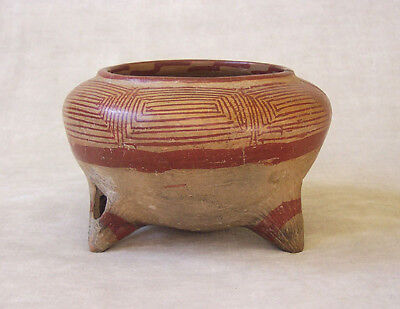 Pre-Columbian POTTERY TRIPOD BOWL - South American, ca. 400 - 700 BC