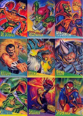 Spider-Man 1995 Fleer Ultra Clearchrome Insert Card Set 1 To 10 Of 10 Ma