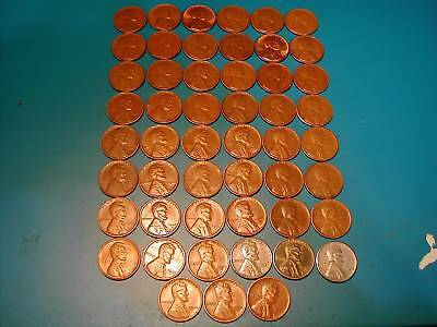 Lincoln Wheat Cent Lot, 51 Different Coins  41Pds-58Pd