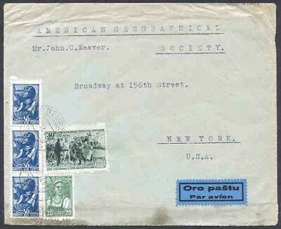 Lithuania 1941 LTSR cover/Russia stamps (x5)/PANEVZYS