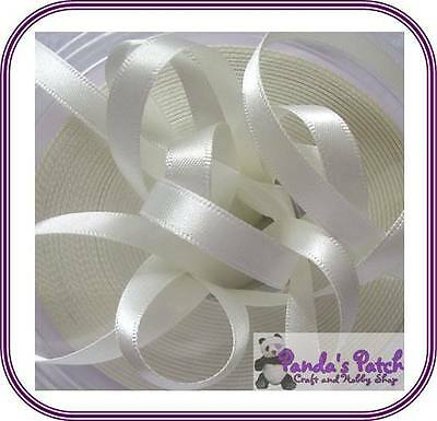 Bridal White/Ivory Double Faced Satin Ribbon Available in 3 Lengths, 8 Widths