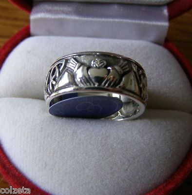 IRISH CLADDAGH WEDDING RING ~ sterling silver CELTIC by Peter Stone