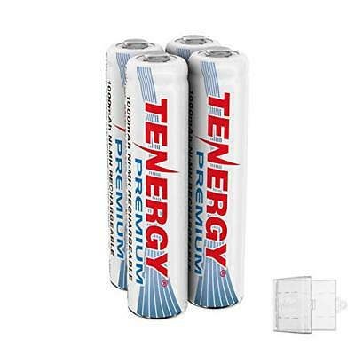 4PCS Tenergy Premium AAA 1000mAh NiMH Rechargeable Batteries Cells AAA+ 1 Holder