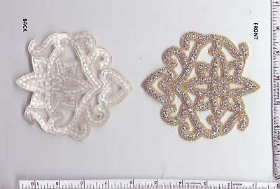 Applique Patch Iron/sew On,glass Beads Rhinestone Patch
