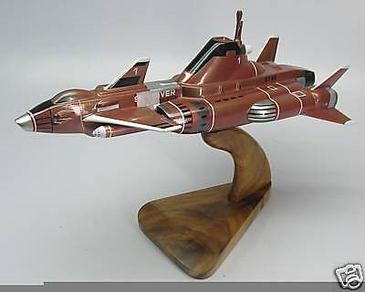 Skydiver-1 SHADO UFO Spacecraft Mahogany Dry Wood Model Large New
