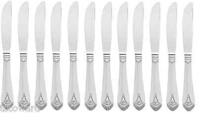 36 World Tableware 564 7922 Dinner Knife w/Fluted Blade & Solid Handle,18/0-S/S