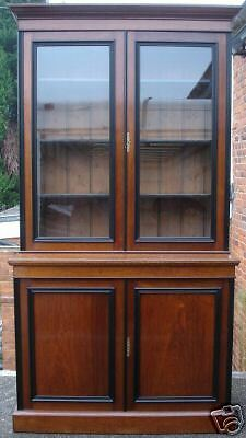 Victorian Walnut Two Door Bookcase