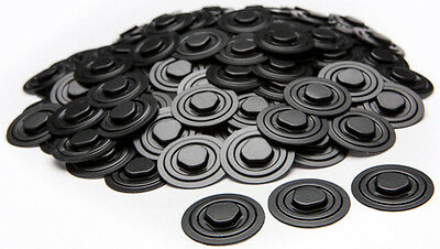 Plastic =CD/DVD HUBS= with Self-Adhesive Back (black and white) 1000-Pak
