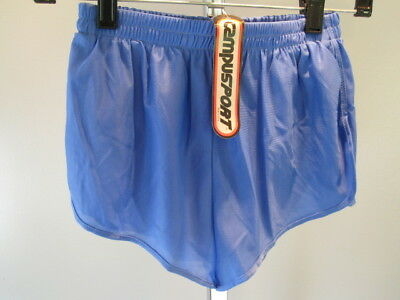 Nos Vintage Campus Blue 70s 80s Boys Swim Suit BottomTrunks Sport Shorts Youth S