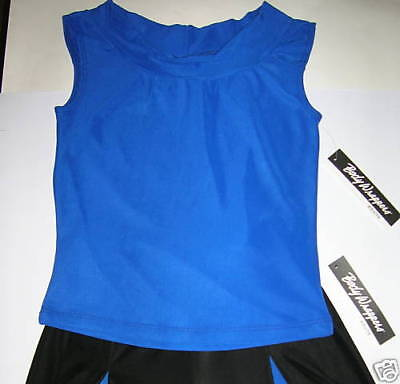 Nwt Dance Jazz Top Mock T Neck Full Front Lined 3 Color