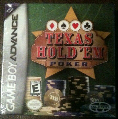 New Factory Sealed Texas Hold'em Poker Game Boy Advance Gba Sp Ds
