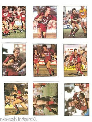 1983 Rugby League Stickers - North Sydney  Bears