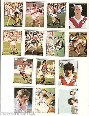 1983 Rugby League Stickers - St George  Dragons