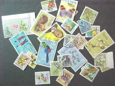 25 Different Uganda (Only) Stamp Collection - Lot