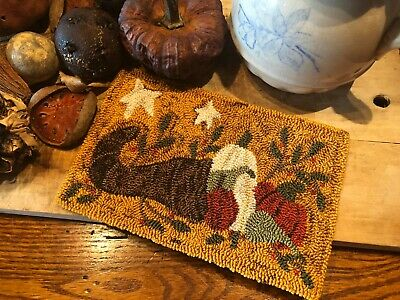 "Primitive Punch Needle Pattern ~ ""Bountiful Harvest"""