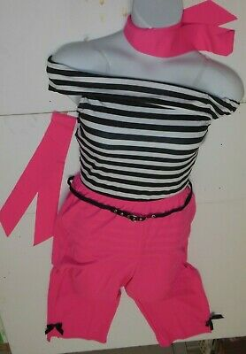 NEW 50'S DANCE COSTUMES XLGE Adlt PINK JAZZ Capri pants