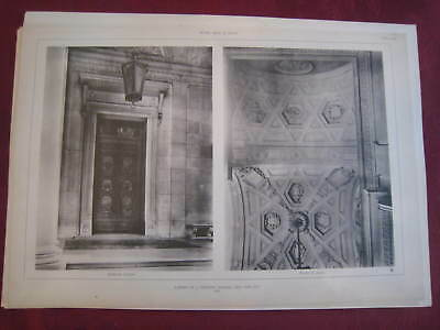 1917 Stanford Arch New York City White Photogravure 18 Various Styles Other Antique Decorative Arts