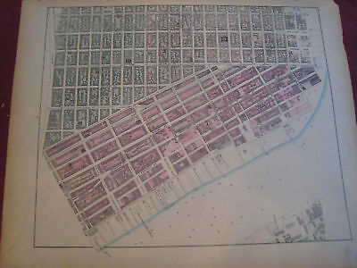 RARE 1867 LOWER EAST SIDE New York City NYC MAP Atlas