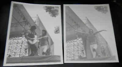 MICK JAGGER ROLLING STONES lot of 2 Concert photos