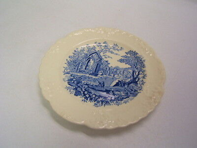 Taylor Smith Taylor English Abbey blue Bread Plate embo