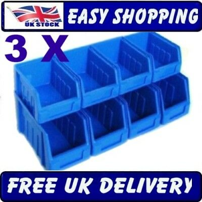 24 Stackable Stacking Plastic Parts Storage Bins Boxes