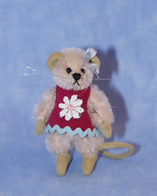 """Deb Canham """"pinky"""" Mini Mouse In Claret Dress"""