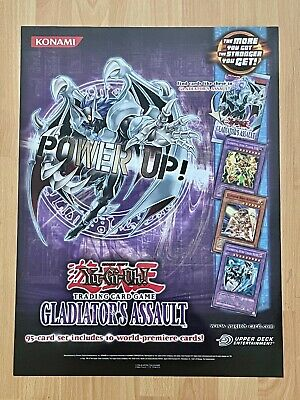 Yu-Gi-Oh 2-Sided Poster Official Konami Gladiator's Assault Monsters of Metal